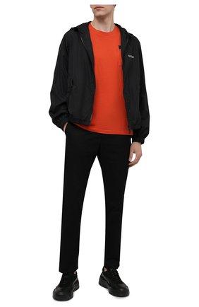 Мужская хлопковая футболка TEE LIBRARY оранжевого цвета, арт. TSK-TS-06 | Фото 2