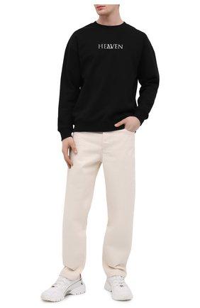Мужской хлопковый свитшот TEE LIBRARY черного цвета, арт. TSK-SW-41 | Фото 2