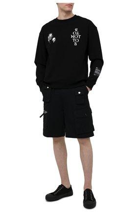 Мужской хлопковый свитшот TEE LIBRARY черного цвета, арт. TSK-SW-39 | Фото 2