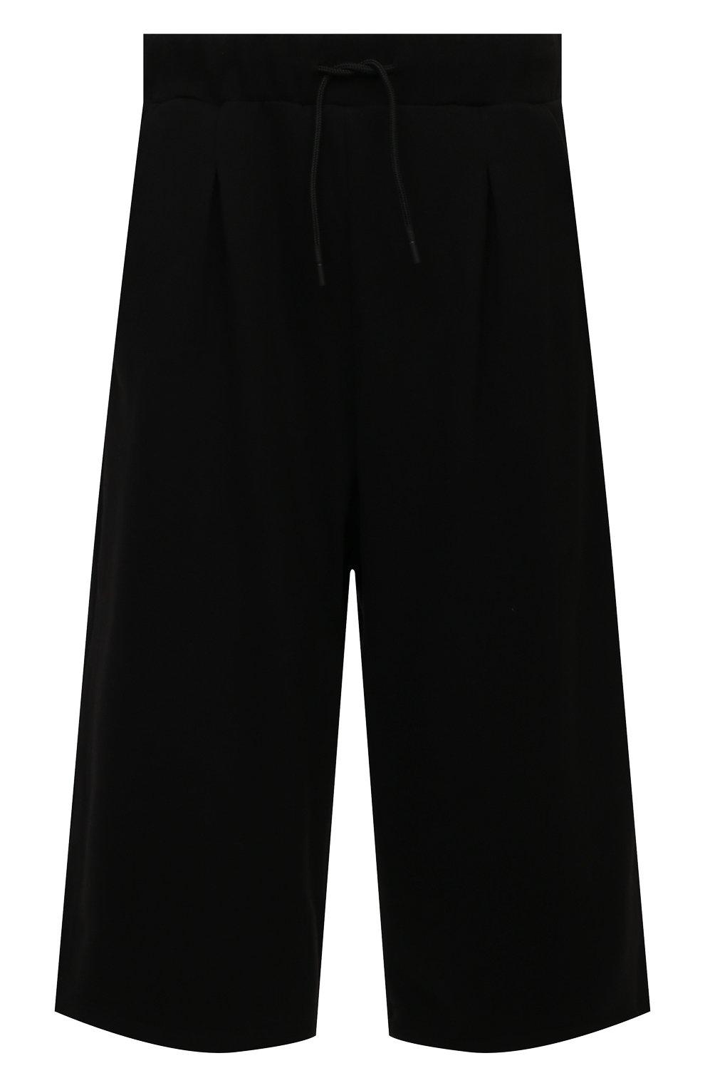 Мужские хлопковые брюки TEE LIBRARY черного цвета, арт. TSK-PT-49   Фото 1 (Случай: Повседневный; Материал внешний: Хлопок; Стили: Минимализм; Длина (брюки, джинсы): Укороченные)
