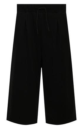 Мужские хлопковые брюки TEE LIBRARY черного цвета, арт. TSK-PT-49 | Фото 1 (Длина (брюки, джинсы): Укороченные; Материал внешний: Хлопок; Случай: Повседневный; Стили: Минимализм)