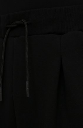 Мужские хлопковые брюки TEE LIBRARY черного цвета, арт. TSK-PT-49   Фото 5 (Случай: Повседневный; Материал внешний: Хлопок; Стили: Минимализм; Длина (брюки, джинсы): Укороченные)