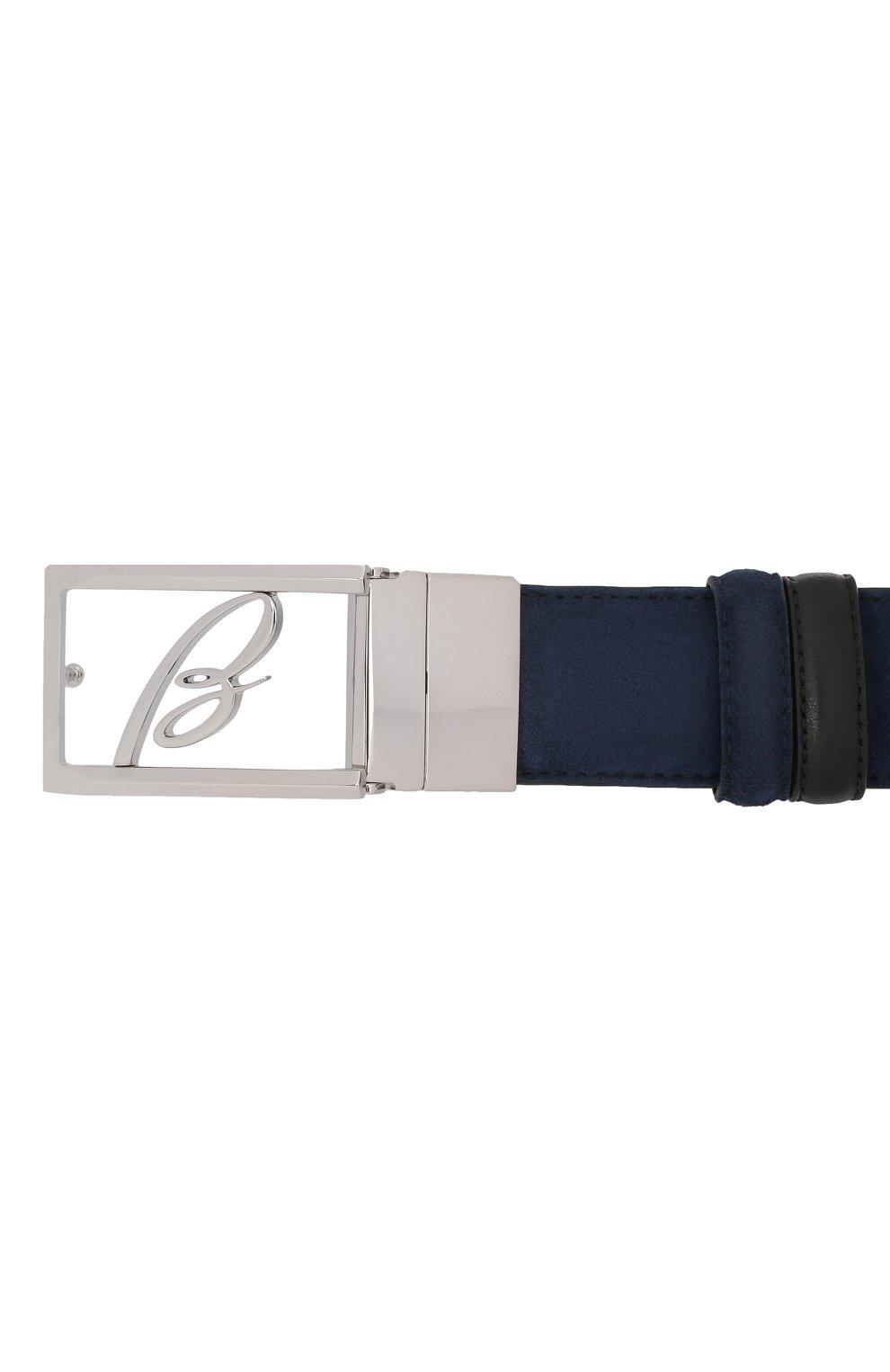 Мужской замшевый ремень BRIONI темно-синего цвета, арт. 0BAP0L/09721   Фото 3