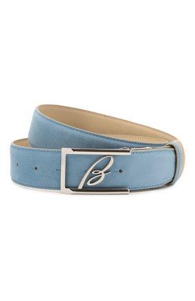 Мужской замшевый ремень BRIONI голубого цвета, арт. 0BAP0L/09721 | Фото 1