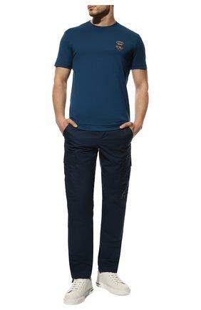 Мужская хлопковая футболка DOLCE & GABBANA синего цвета, арт. G8MM6Z/FU7EQ | Фото 2