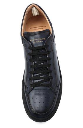 Мужские кожаные кеды OFFICINE CREATIVE темно-синего цвета, арт. KAREEM LUX/001/AER0 BUTTER0 | Фото 5 (Материал внутренний: Натуральная кожа; Подошва: Плоская)