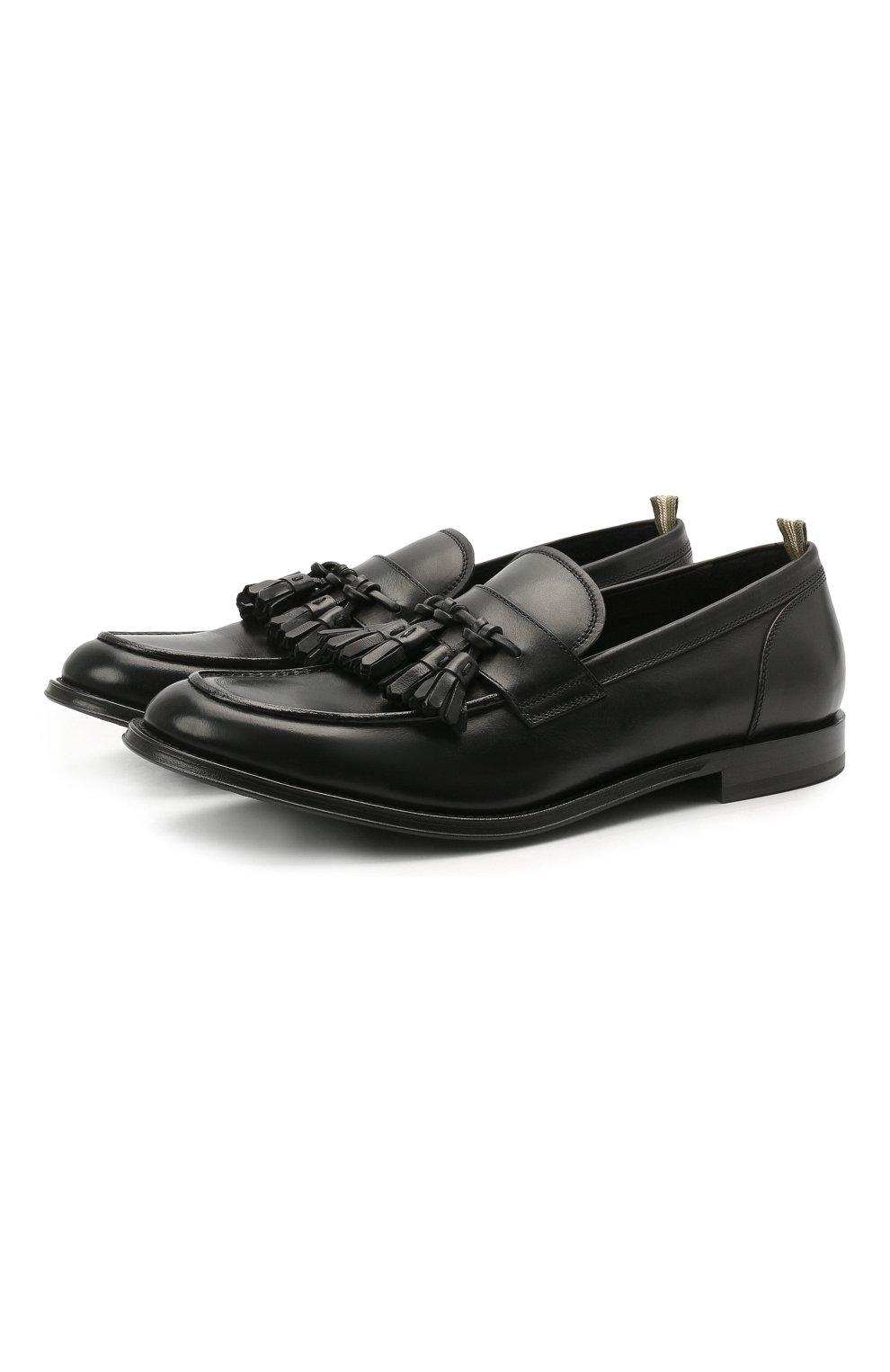 Мужские кожаные лоферы OFFICINE CREATIVE черного цвета, арт. BARRY/002/BUTTER0   Фото 1 (Материал внутренний: Натуральная кожа; Стили: Кэжуэл)
