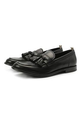 Мужские кожаные лоферы OFFICINE CREATIVE черного цвета, арт. BARRY/002/BUTTER0 | Фото 1