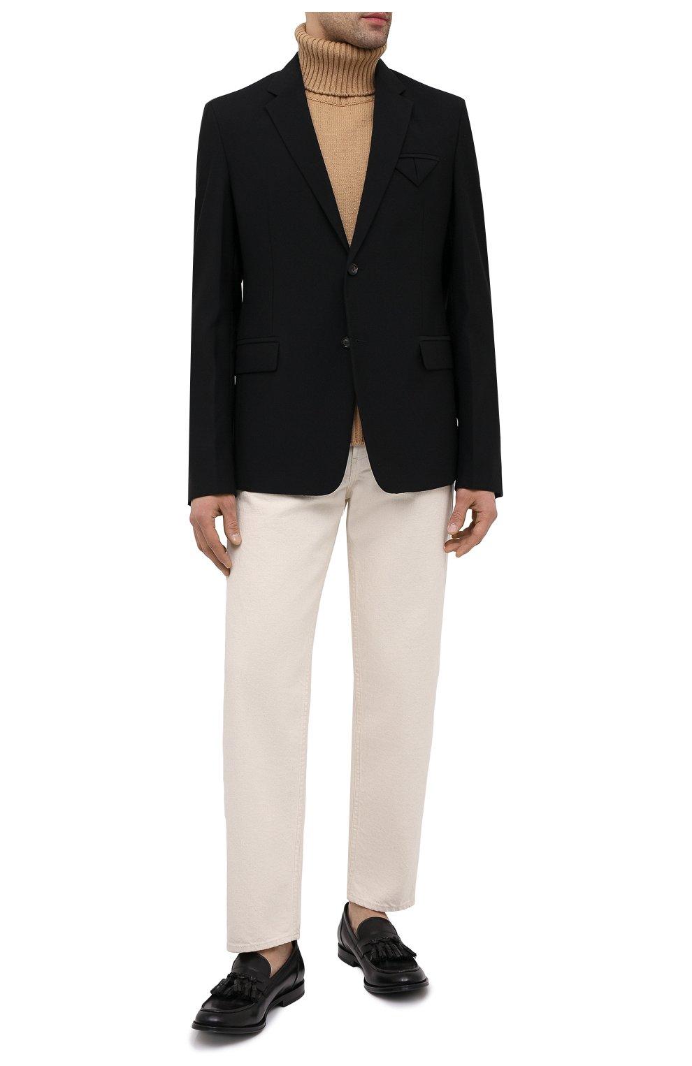 Мужские кожаные лоферы OFFICINE CREATIVE черного цвета, арт. BARRY/002/BUTTER0   Фото 2 (Материал внутренний: Натуральная кожа; Стили: Кэжуэл)