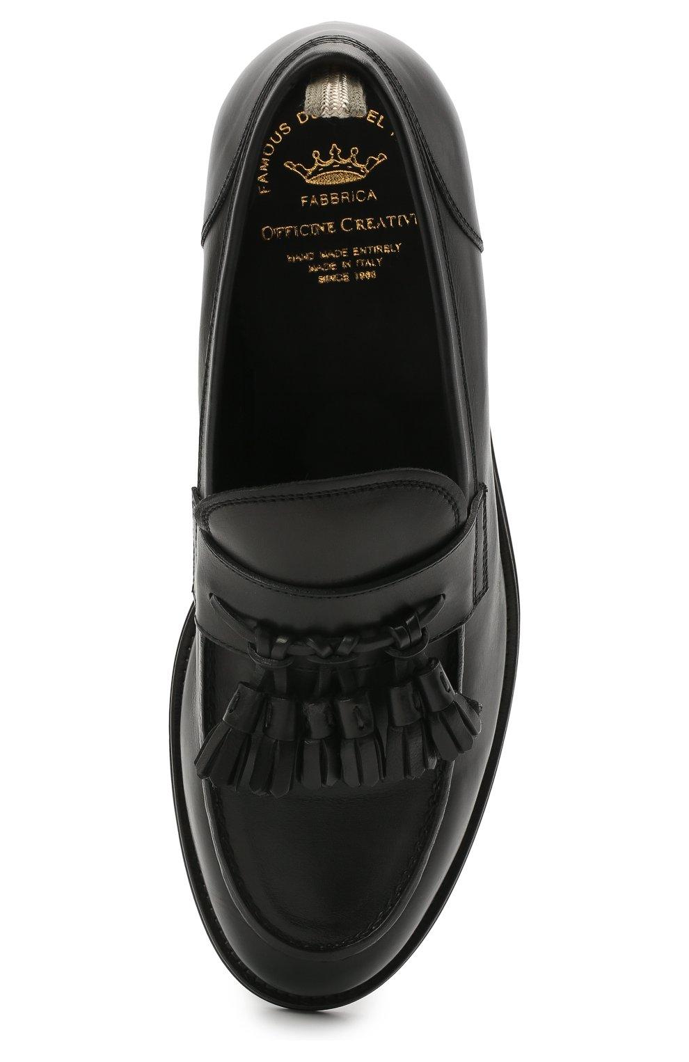 Мужские кожаные лоферы OFFICINE CREATIVE черного цвета, арт. BARRY/002/BUTTER0   Фото 5 (Материал внутренний: Натуральная кожа; Стили: Кэжуэл)