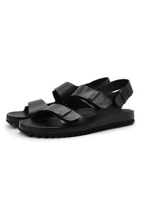 Мужские кожаные сандалии OFFICINE CREATIVE черного цвета, арт. AG0RA`/001/SPALLA PIUMA | Фото 1