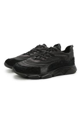 Мужские комбинированные кроссовки MOMA черного цвета, арт. 4AS130-ML | Фото 1