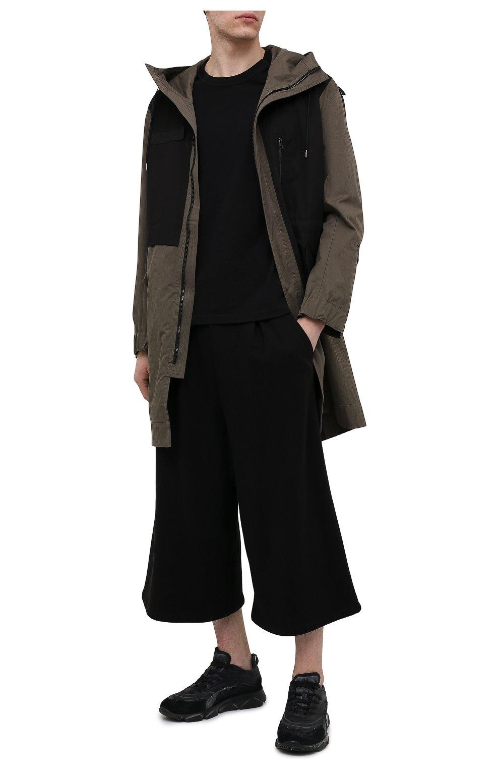 Мужские комбинированные кроссовки MOMA черного цвета, арт. 4AS130-ML | Фото 2 (Материал внешний: Текстиль; Материал внутренний: Натуральная кожа; Стили: Гранж; Подошва: Массивная)