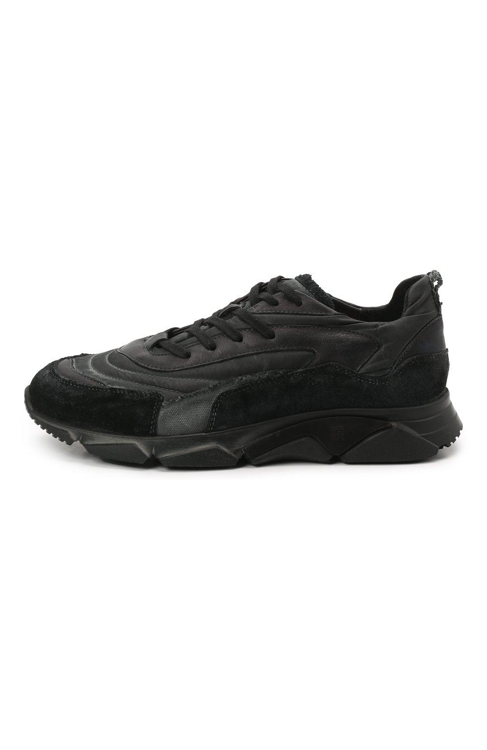 Мужские комбинированные кроссовки MOMA черного цвета, арт. 4AS130-ML | Фото 3 (Материал внешний: Текстиль; Материал внутренний: Натуральная кожа; Стили: Гранж; Подошва: Массивная)