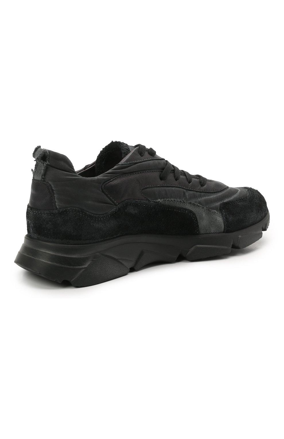 Мужские комбинированные кроссовки MOMA черного цвета, арт. 4AS130-ML | Фото 4 (Материал внешний: Текстиль; Материал внутренний: Натуральная кожа; Стили: Гранж; Подошва: Массивная)