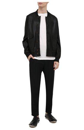 Мужские кожаные дерби MOMA черного цвета, арт. 2AS110-C0 | Фото 2
