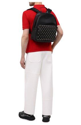 Мужской кожаный рюкзак medusa stud VERSACE черного цвета, арт. DFZ8504/DVTME2 | Фото 2 (Материал: Натуральная кожа)