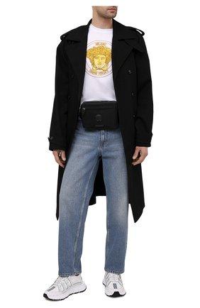 Мужская текстильная поясная сумка la medusa VERSACE черного цвета, арт. DFB8580/DNY8ME | Фото 2