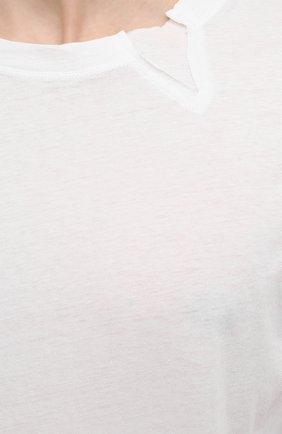 Мужская хлопковый лонгслив ISABEL BENENATO белого цвета, арт. UJ01S21 | Фото 5 (Рукава: Длинные; Принт: Без принта; Длина (для топов): Стандартные; Материал внешний: Хлопок; Стили: Кэжуэл)