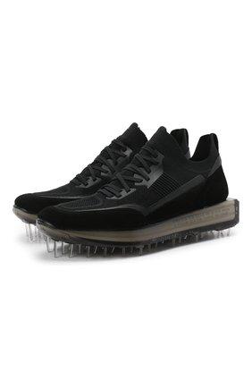 Мужские комбинированные кроссовки RBRSL черного цвета, арт. 7Z2268U.V78TZTT803   Фото 1