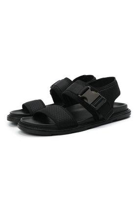 Мужские текстильные сандалии VIC MATIE черного цвета, арт. 1X8194UZX02C5BB001   Фото 1 (Материал внутренний: Натуральная кожа; Материал внешний: Текстиль)