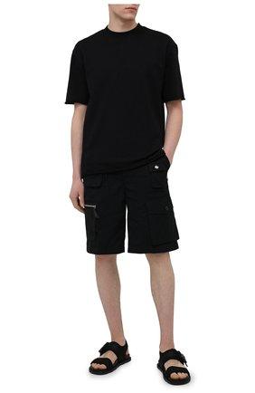 Мужские текстильные сандалии VIC MATIE черного цвета, арт. 1X8194UZX02C5BB001   Фото 2 (Материал внутренний: Натуральная кожа; Материал внешний: Текстиль)