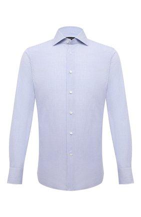 Мужская хлопковая сорочка ERMENEGILDO ZEGNA голубого цвета, арт. 901331/9MS0BA | Фото 1