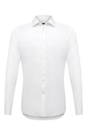 Мужская сорочка из хлопка и льна ERMENEGILDO ZEGNA белого цвета, арт. 901454/9MS0M2 | Фото 1
