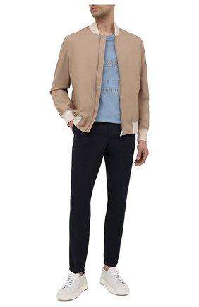 Мужские хлопковые джоггеры Z ZEGNA темно-синего цвета, арт. 9ZF024/73GLC1 | Фото 2 (Материал внешний: Хлопок; Длина (брюки, джинсы): Стандартные; Силуэт М (брюки): Джоггеры; Стили: Спорт-шик)