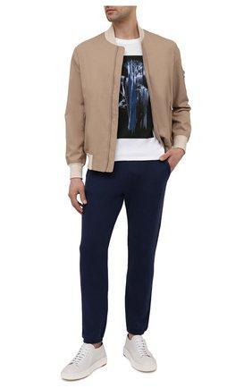 Мужская хлопковая футболка Z ZEGNA белого цвета, арт. VW372/ZZ650H | Фото 2 (Материал внешний: Хлопок; Рукава: Короткие; Длина (для топов): Стандартные; Принт: С принтом; Стили: Кэжуэл)