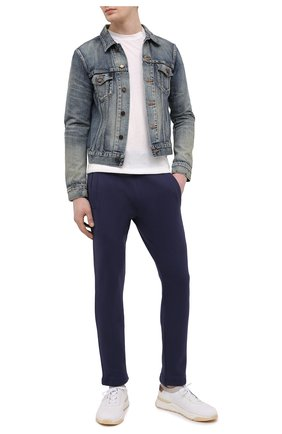 Мужские хлопковые брюки JACOB COHEN темно-синего цвета, арт. J6177 02411-L/55 | Фото 2 (Длина (брюки, джинсы): Стандартные; Материал внешний: Хлопок; Случай: Повседневный; Стили: Спорт-шик; Мужское Кросс-КТ: Брюки-трикотаж)