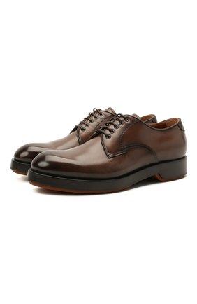 Мужские кожаные дерби ZEGNA COUTURE коричневого цвета, арт. A4562X-LHHRS | Фото 1
