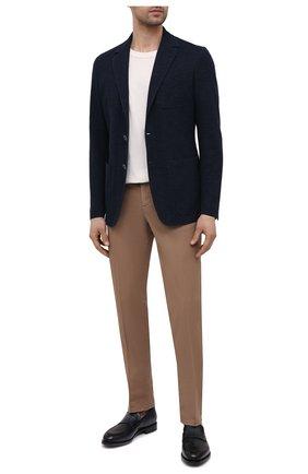 Мужской пиджак из хлопка и льна CANALI темно-синего цвета, арт. J0147/JJ01975   Фото 2