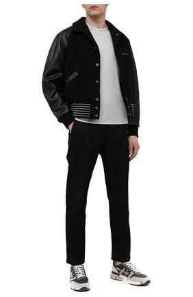 Мужские комбинированные кроссовки mick PREMIATA темно-серого цвета, арт. MICK/VAR5188 | Фото 2