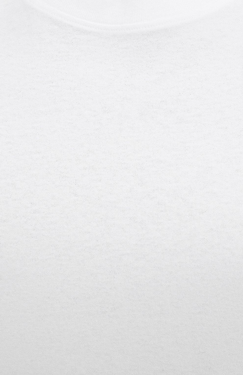 Мужская хлопковая футболка VALENTINO белого цвета, арт. VV0MG09T7DN   Фото 5 (Принт: Без принта; Рукава: Короткие; Длина (для топов): Стандартные; Материал внешний: Хлопок; Стили: Кэжуэл)