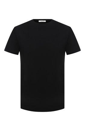 Мужская хлопковая футболка VALENTINO черного цвета, арт. VV0MG09T7DN | Фото 1