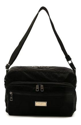 Мужская текстильная сумка nero sicilia dna DOLCE & GABBANA черного цвета, арт. BM1955/A0243 | Фото 1