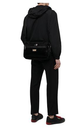 Мужская текстильная сумка nero sicilia dna DOLCE & GABBANA черного цвета, арт. BM1955/A0243 | Фото 2