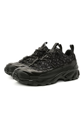 Мужские комбинированные кроссовки arthur BURBERRY черного цвета, арт. 8037253 | Фото 1