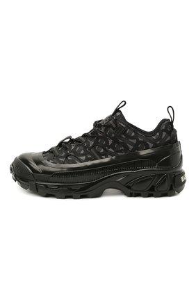 Мужские комбинированные кроссовки arthur BURBERRY черного цвета, арт. 8037253 | Фото 2