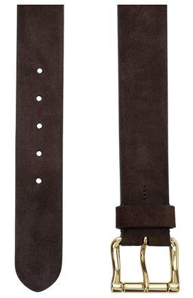 Мужской замшевый ремень RALPH LAUREN темно-коричневого цвета, арт. 404833846 | Фото 2