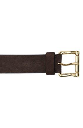 Мужской замшевый ремень RALPH LAUREN темно-коричневого цвета, арт. 404833846   Фото 3 (Случай: Повседневный)