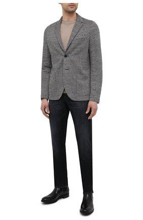Мужской льняной пиджак HARRIS WHARF LONDON черно-белого цвета, арт. C8P22PEM | Фото 2