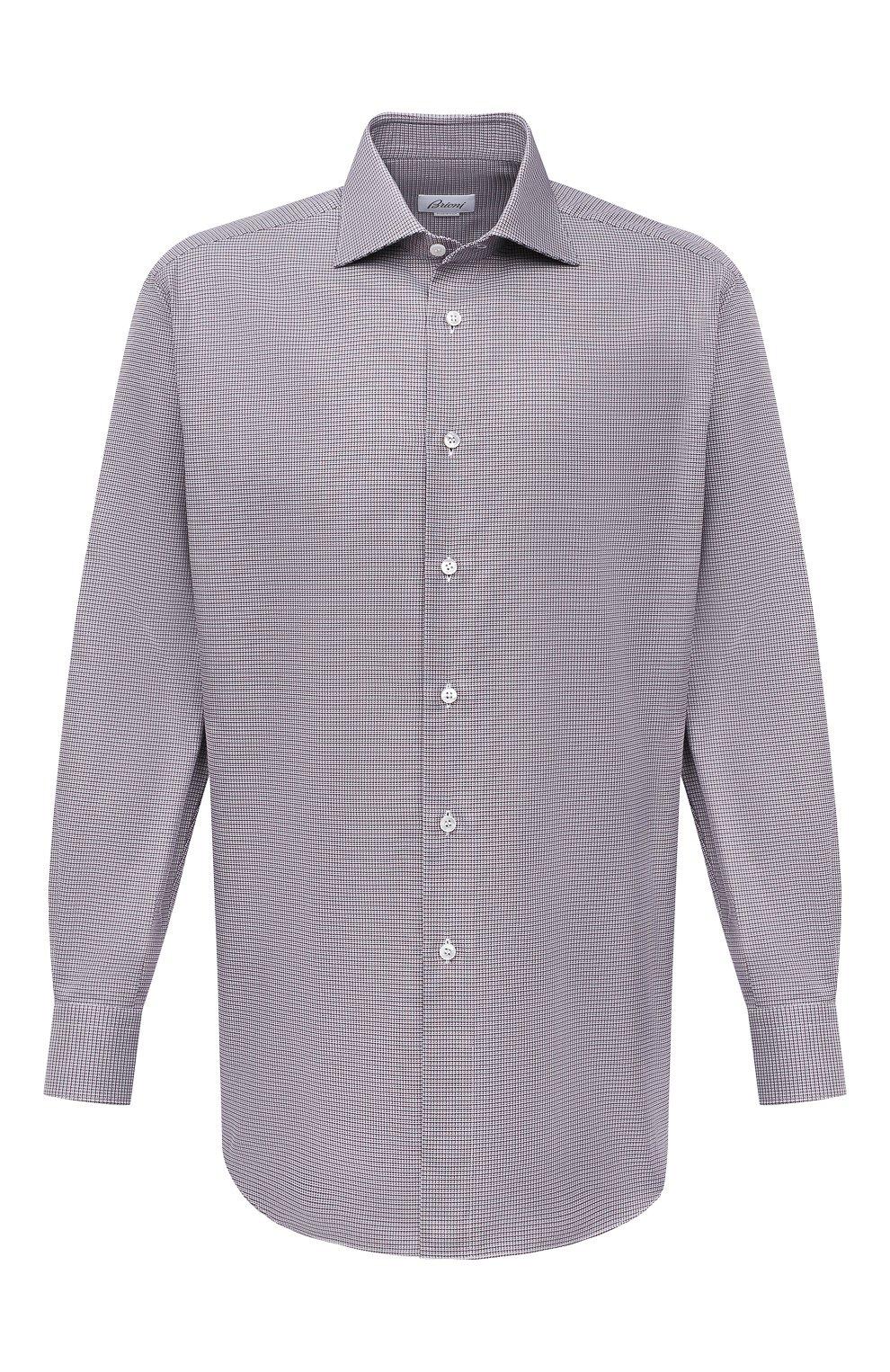 Мужская хлопковая сорочка BRIONI бордового цвета, арт. RCA10L/P006M   Фото 1