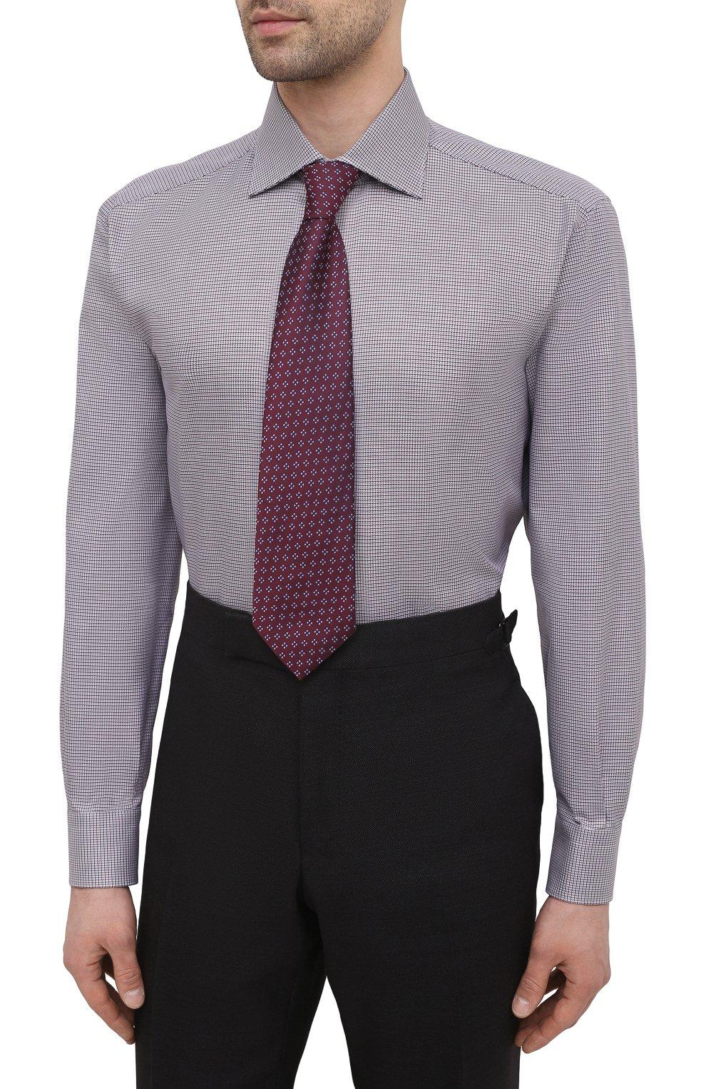 Мужская хлопковая сорочка BRIONI бордового цвета, арт. RCA10L/P006M   Фото 4