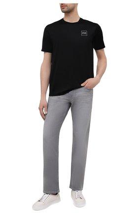 Мужская хлопковая футболка PAUL&SHARK черного цвета, арт. 21411058/C00 | Фото 2