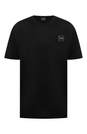 Мужская хлопковая футболка PAUL&SHARK черного цвета, арт. 21411058/C00/3XL-6XL | Фото 1