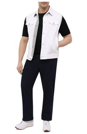 Мужская хлопковая футболка PAUL&SHARK черного цвета, арт. 21411058/C00/3XL-6XL | Фото 2