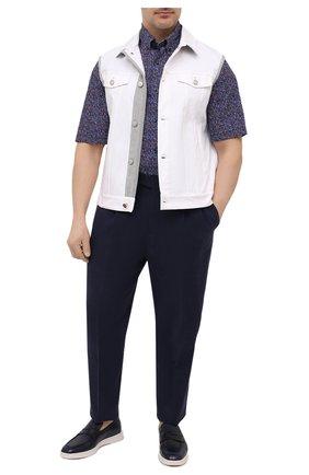 Мужская хлопковая рубашка PAUL&SHARK разноцветного цвета, арт. 21413391/C00   Фото 2