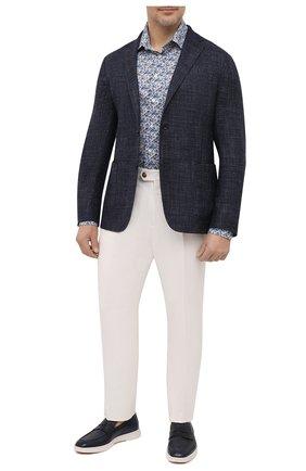 Мужская хлопковая рубашка ETON синего цвета, арт. 1000 02212 | Фото 2